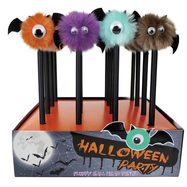 Halloween Monster Pom Pom Pencil