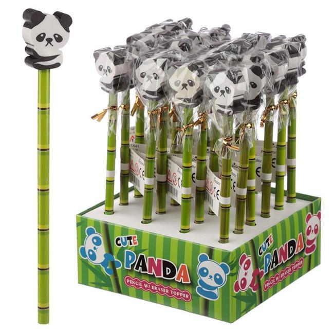 Cute Panda Pencil with Eraser Top