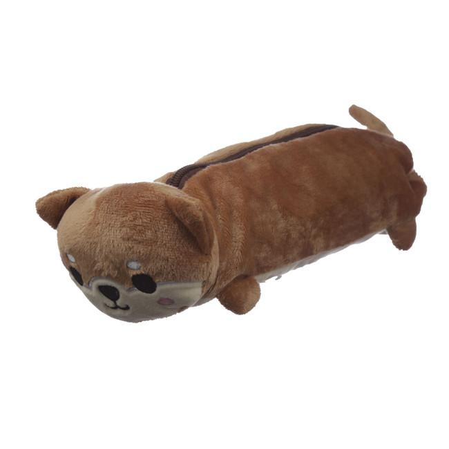 Shaped Fluffy Shiba Inu Dog Pencil Case