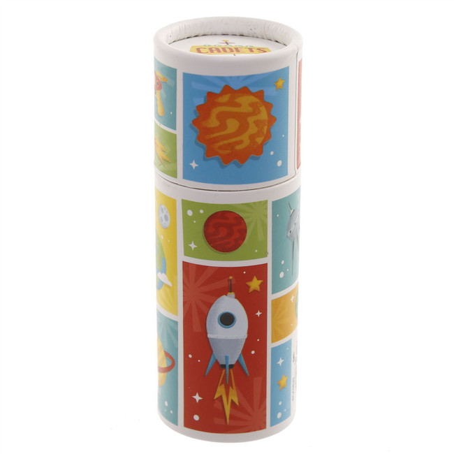 Space Cadet Pencil Pot with Colouring Pencils