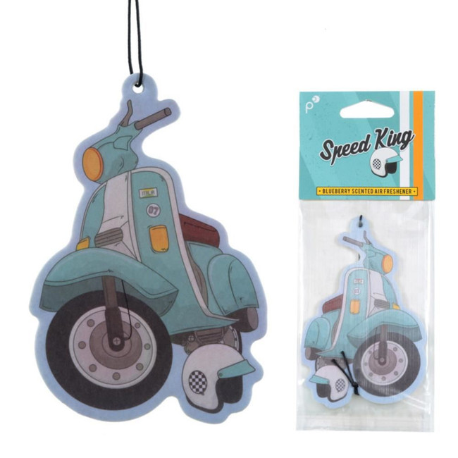 Blueberry Retro Blue Scooter Air Freshener