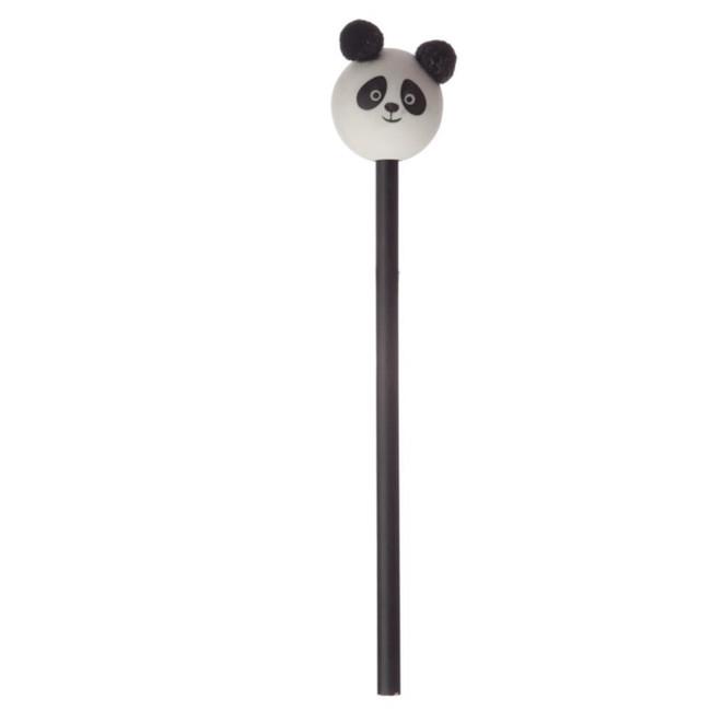 Panda Pom Pom Pencil with Panda Head Topper
