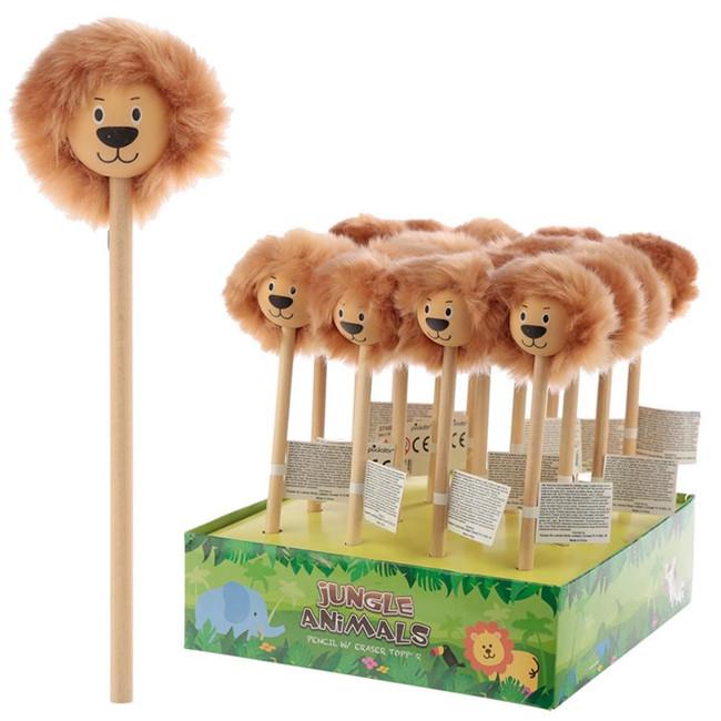 Jungle Animals Lion Fluffy Mane Pencil