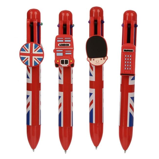 Union Jack Multi Colour Pen (6 Colours)