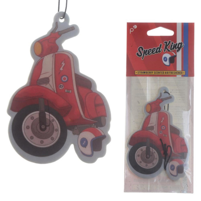 Strawberry Retro Speed King Red Scooter Air Freshener