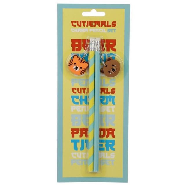 Cutemals Set of 2 PVC Charm Pencil