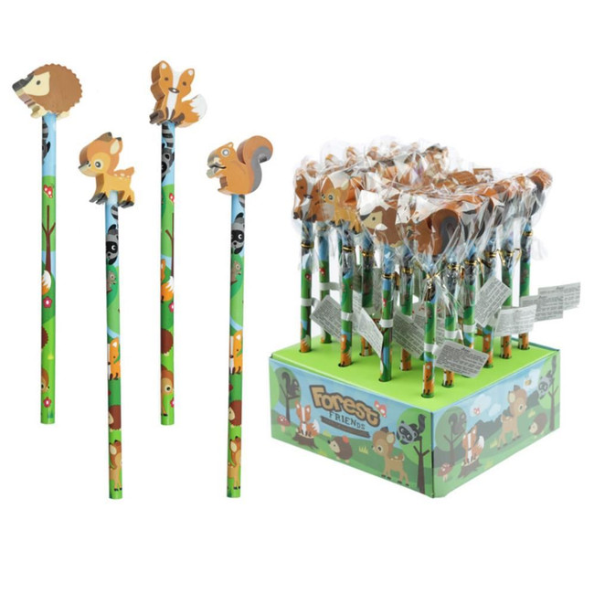 Forest Friend Pencil with Eraser Topper