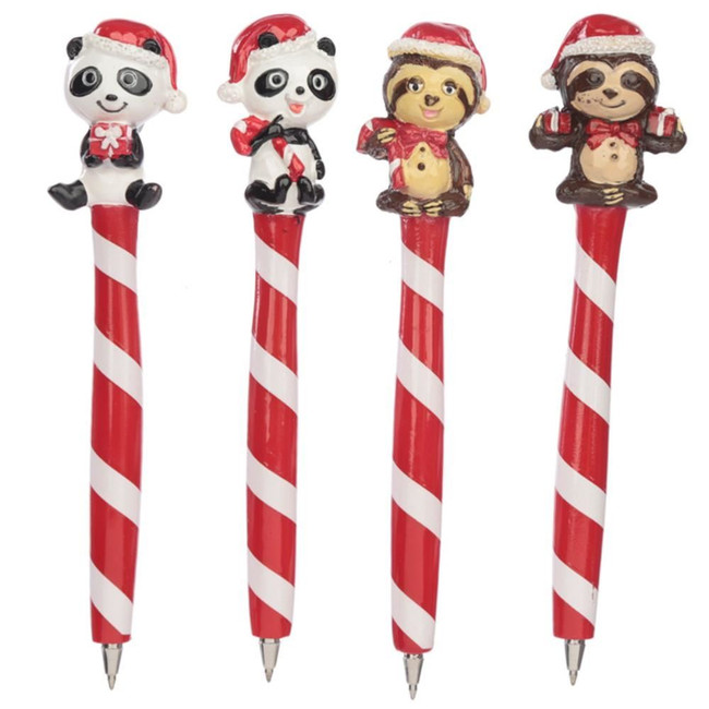 Panda and Sloth Christmas Pen