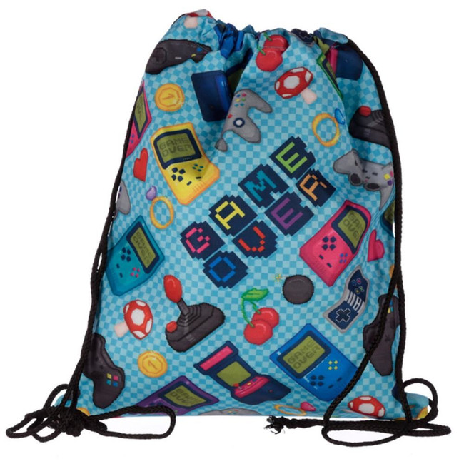 Game Over Drawstring Bag