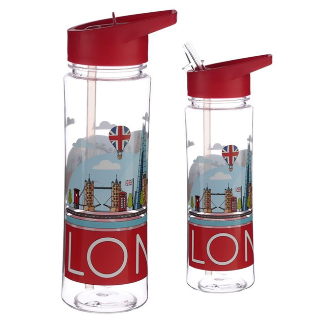 Reusable 550ml Plastic Water Bottle - London Panorama