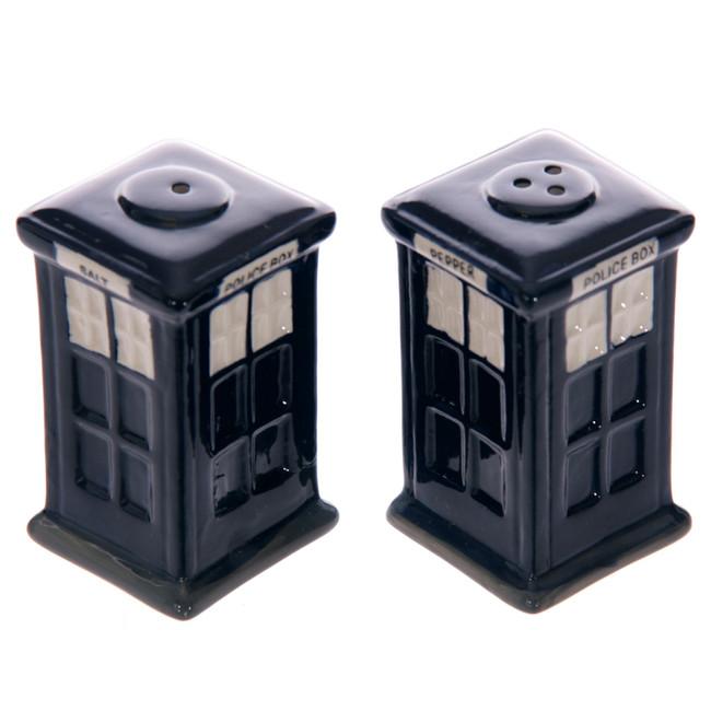 Ceramic London Salt & Pepper Set, Police Box
