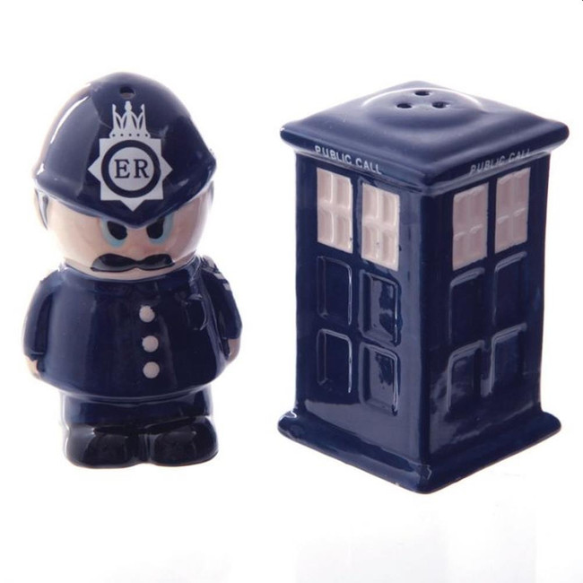 Ceramic Policeman & Police Box Salt & Pepper Set