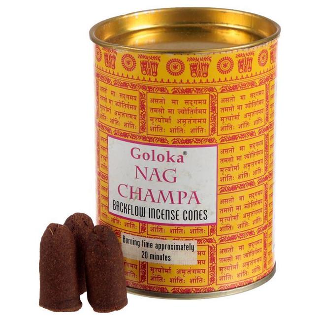 Goloka Backflow Nag Champa Incense Cones