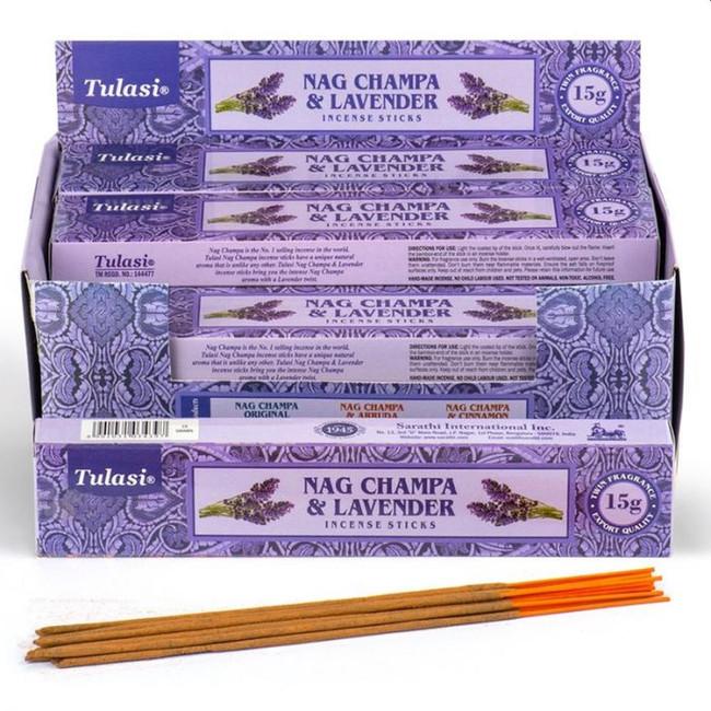 37294 Tulasi Lavender Nag Champa Incense Sticks