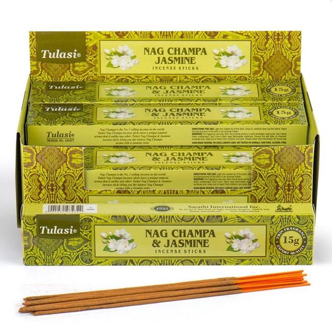 37293 Tulasi Jasmine Nag Champa Incense Sticks