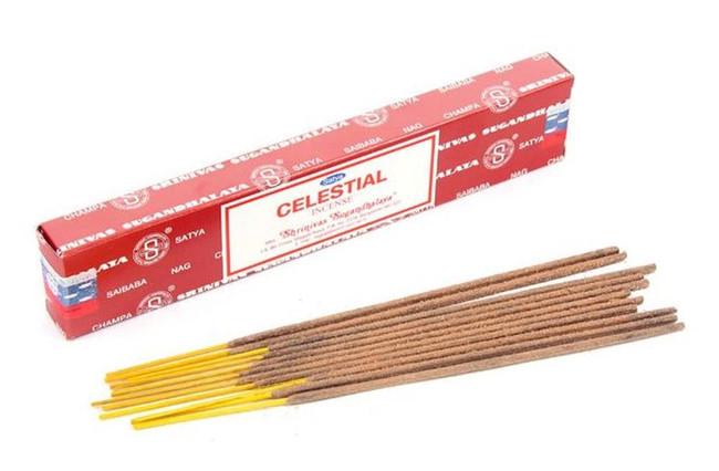 01314 Satya Celestial Nag Champa 12 Incense Sticks