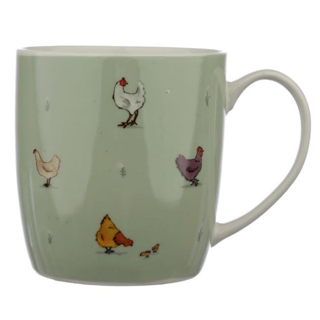 Willow Farm Chickens Porcelain Mug