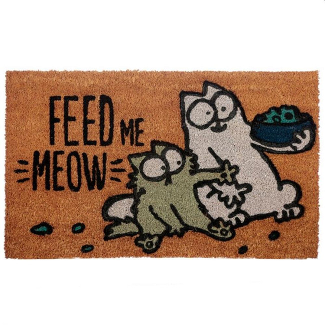 Feed Me Meow Simon's Cat Coir Door Mat