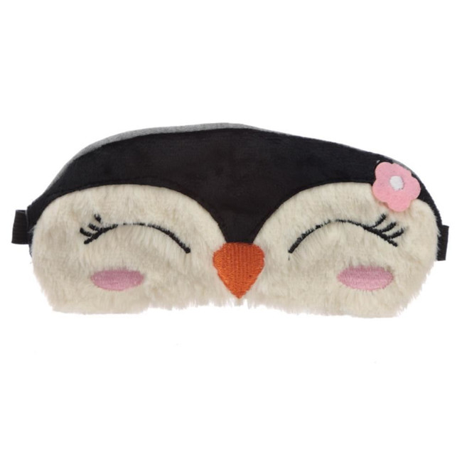 Plush Penguin Eye Mask