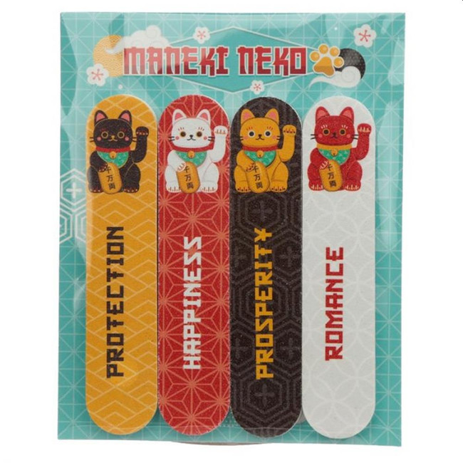 Maneki Neko Lucky Cat Set of 4 Nail Files