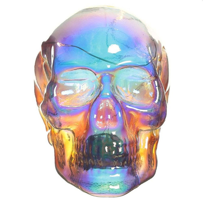 Skulls and Roses Iridescent Rainbow LED Skull