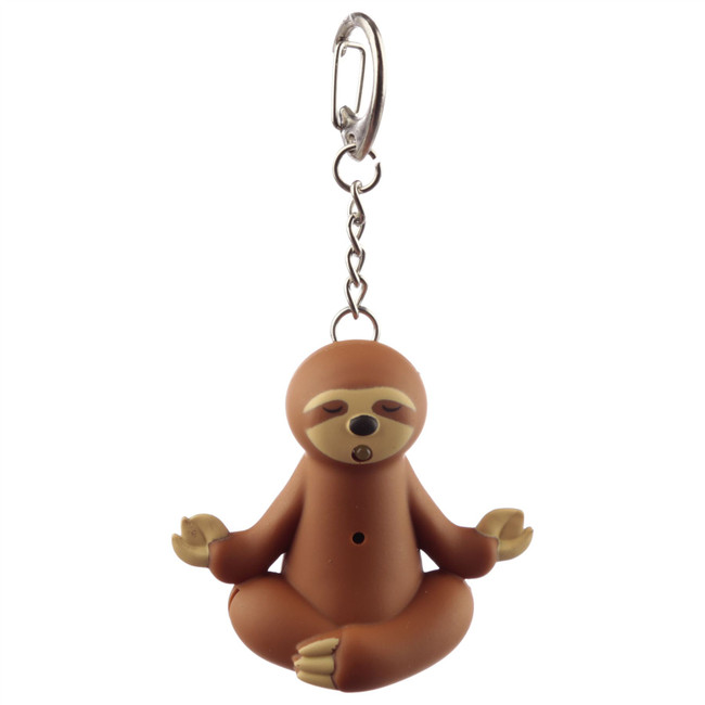 Just Hanging Around Sloth LED Keyring with Sound