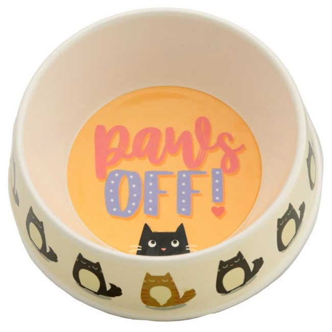 Bamboo Composite Paws Off Feline Fine Cat Pet Food Bowl
