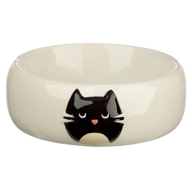 Ceramic Feline Fine Cat Pet Food Bowl