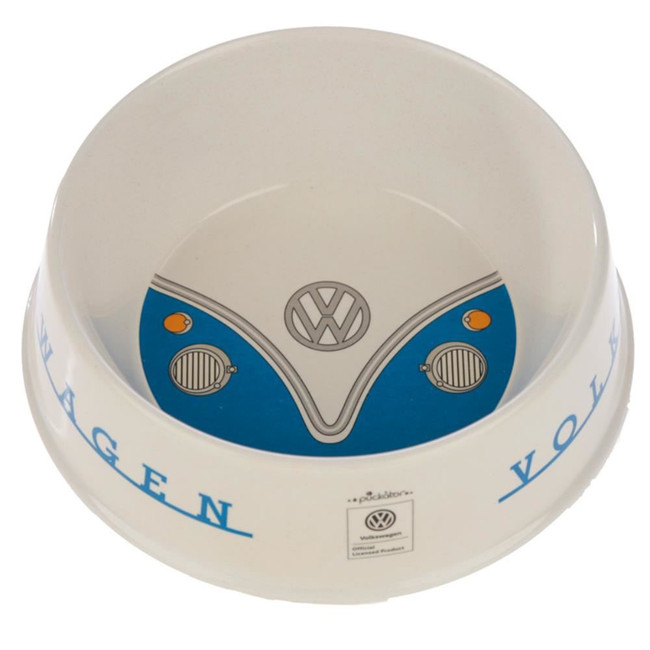 Bamboo Composite Volkswagen VW T1 Camper Bus Blue Pet Food Bowl