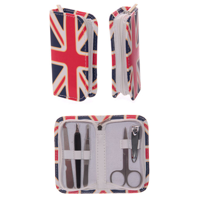 Union Jack UK Flag Manicure Set