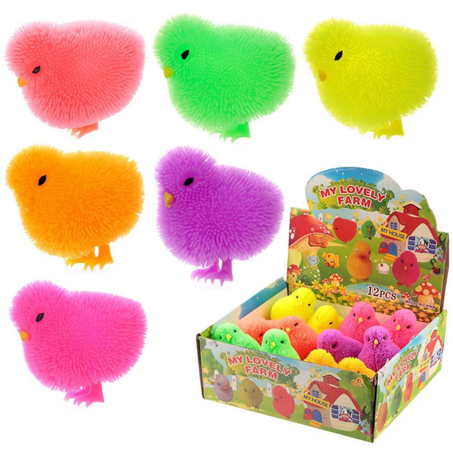Squidgy Light Up Puff Pet Chick