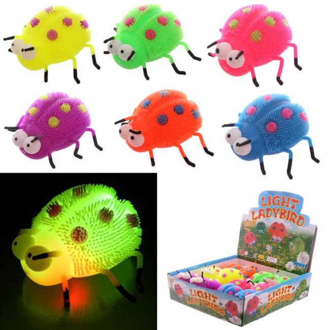 Squidgy Light Up Puff Pet Ladybug