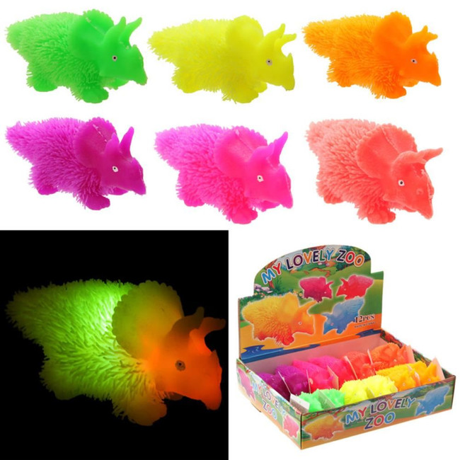 Squidgy Light Up Colourful Puff Pet Triceratops