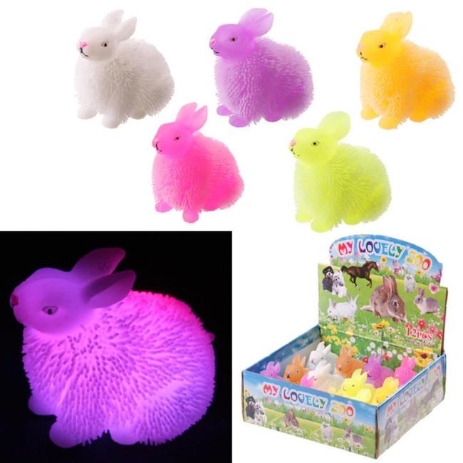 Flashing Squidgy Rabbit Puff Pet