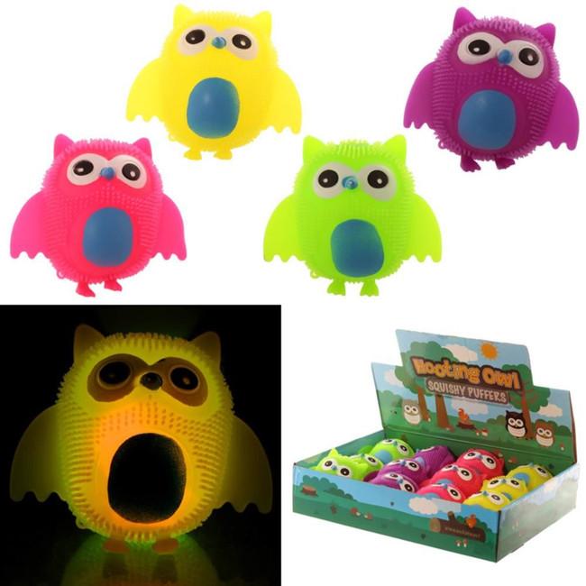 Owl Squidgy LED Novelty Toy