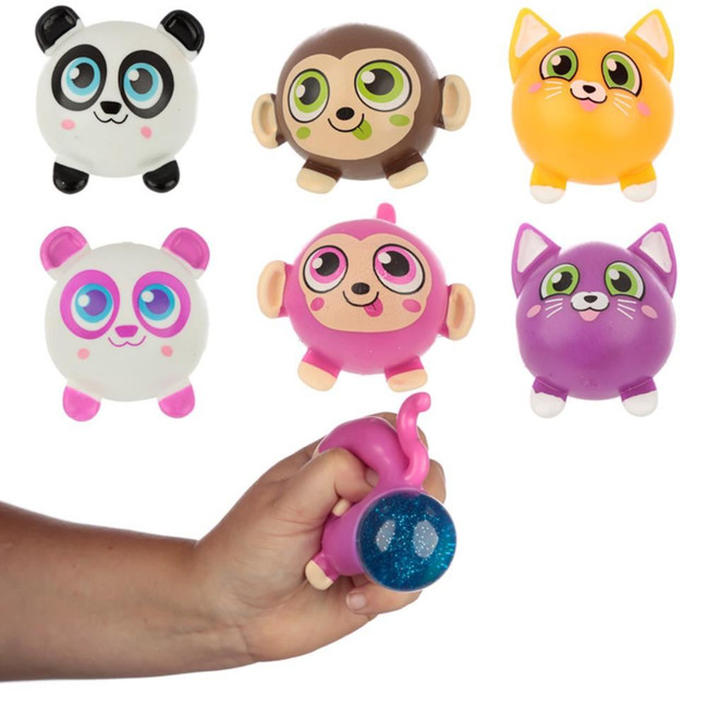 Squeezy Glitter Pooping Cute Animals