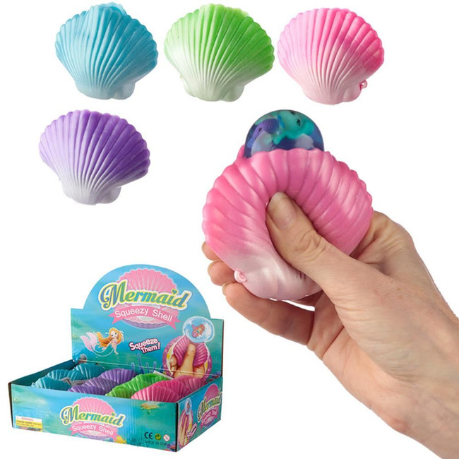 Squeezable Mermaid in a Shell