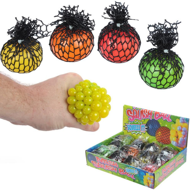 Squeezable Ball in a Net