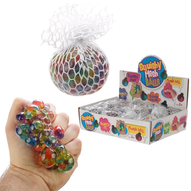 Squeezable Rainbow Ball in a Net