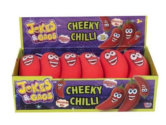 Squeezy Cheeky Chilli Toy, 1 Red Squidgy Chilli Per Sale, Joke Stocking Filler/Gift