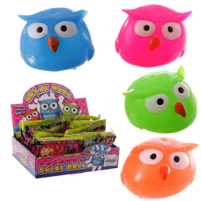 Squidgy Squeezy Splat Owl Ball