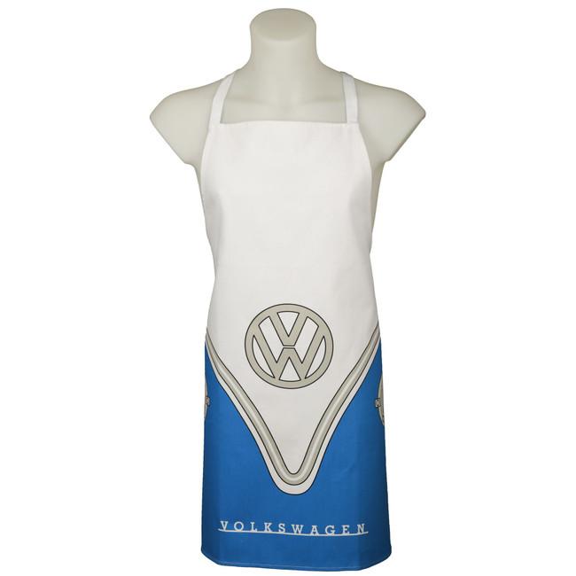 Poly Cotton Apron - Volkswagen VW T1 Camper Bus Blue