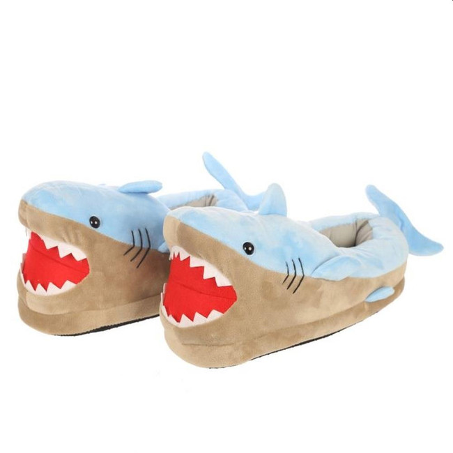 Shark Plush Slippers (Unisex One Size)
