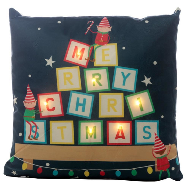 Christmas Elf LED Cushion