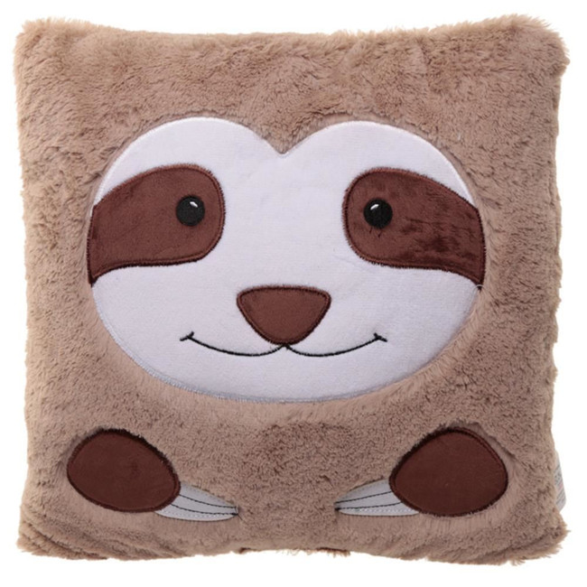 Just Hanging Around Plush Sloth Face Cushion