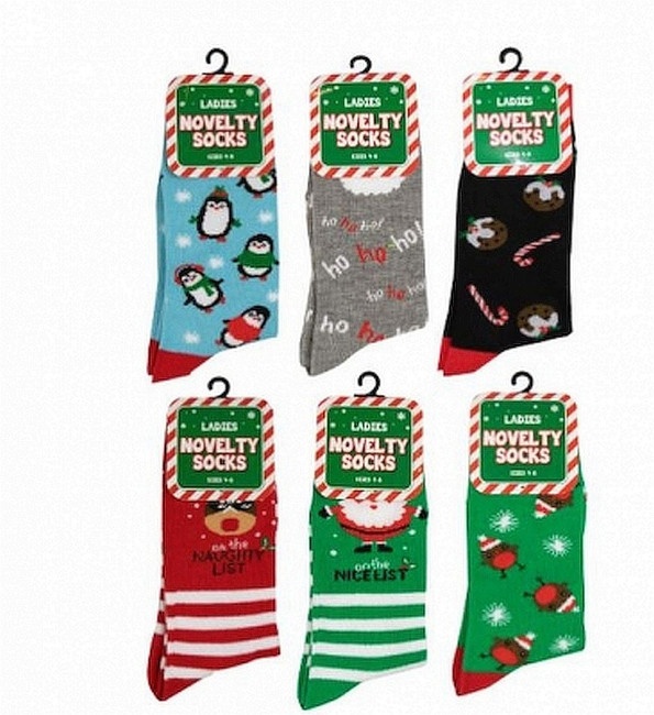 3 Pairs Ladies Christmas Novelty Socks