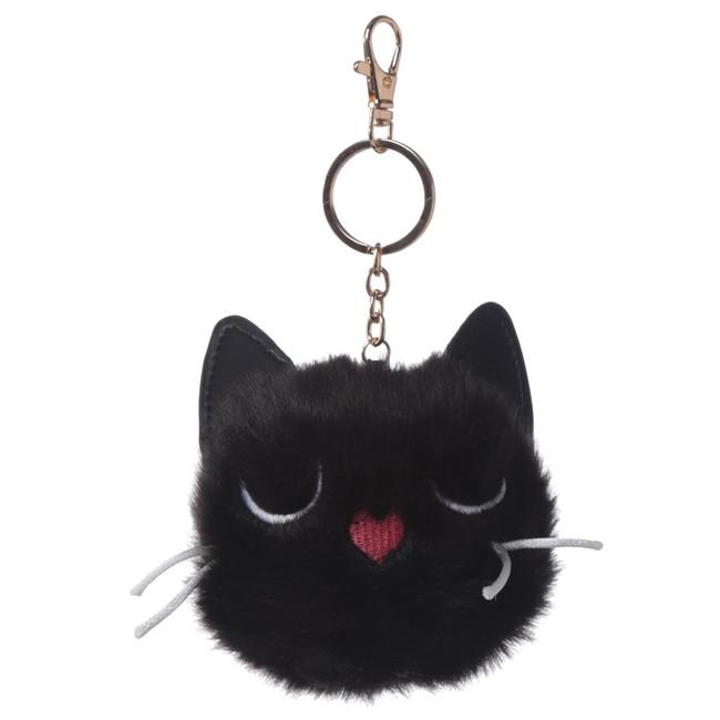 Feline Fine Cat Pom Pom Keyring