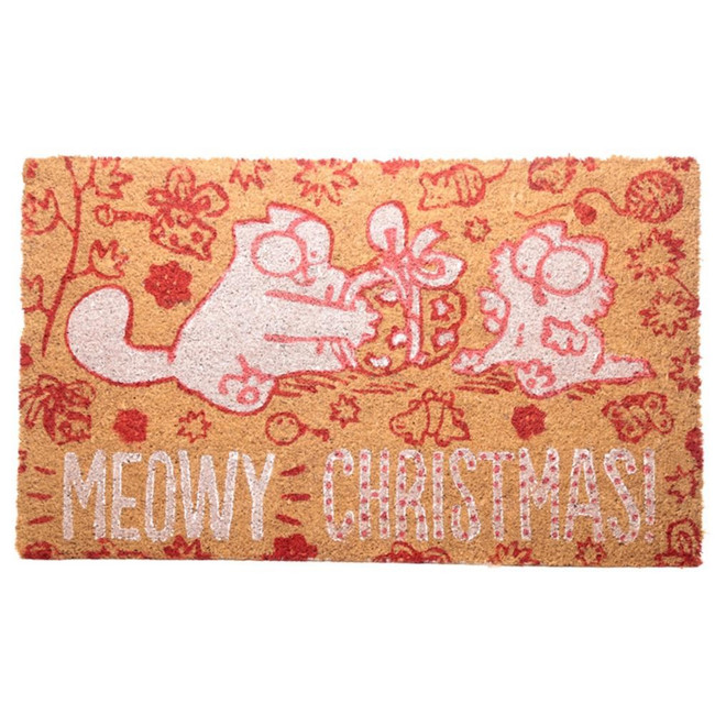 Simon's Cat Meowy Christmas Coir Door Mat