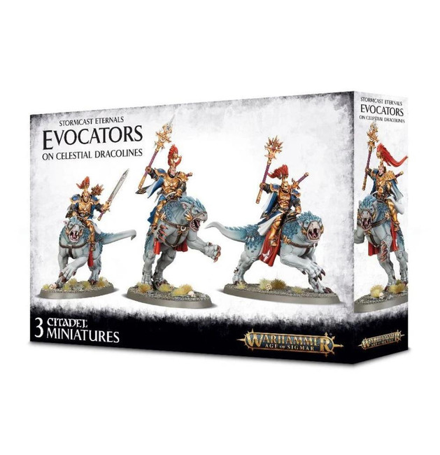 Stormcast Eternals,Evocators On Celestial Dracolines,Warhammer Age of Sigmar
