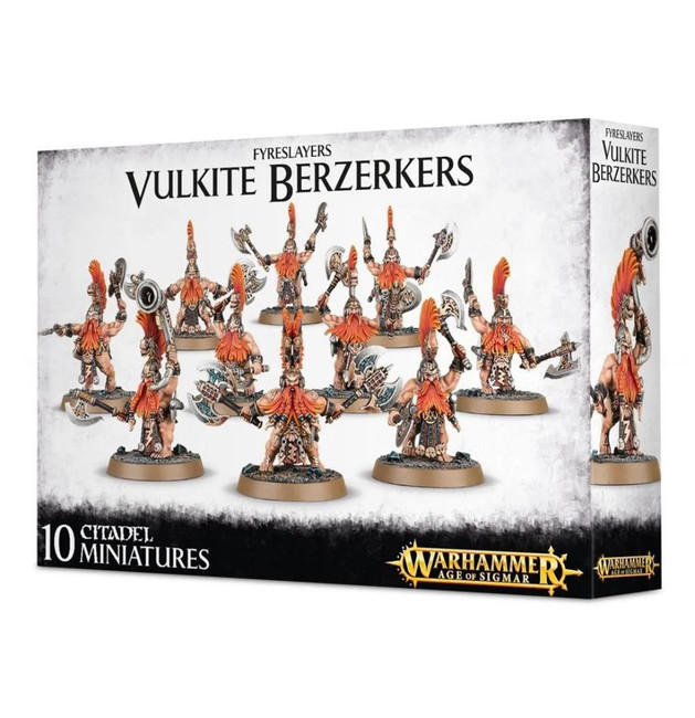 Fyreslayers: Vulkite Berzerkers, Warhammer Age of Sigmar